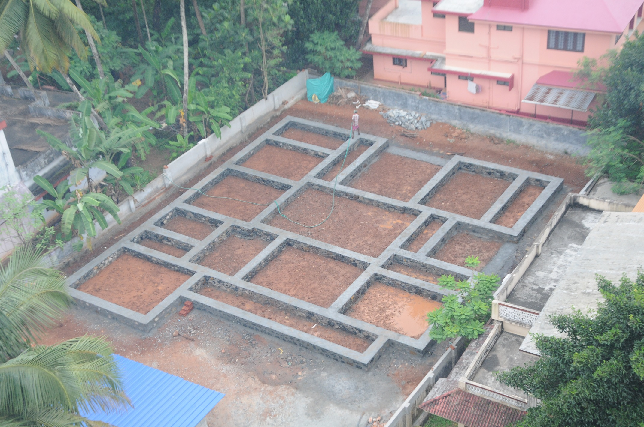 7 stages of house construction an arial view for Stages in house construction