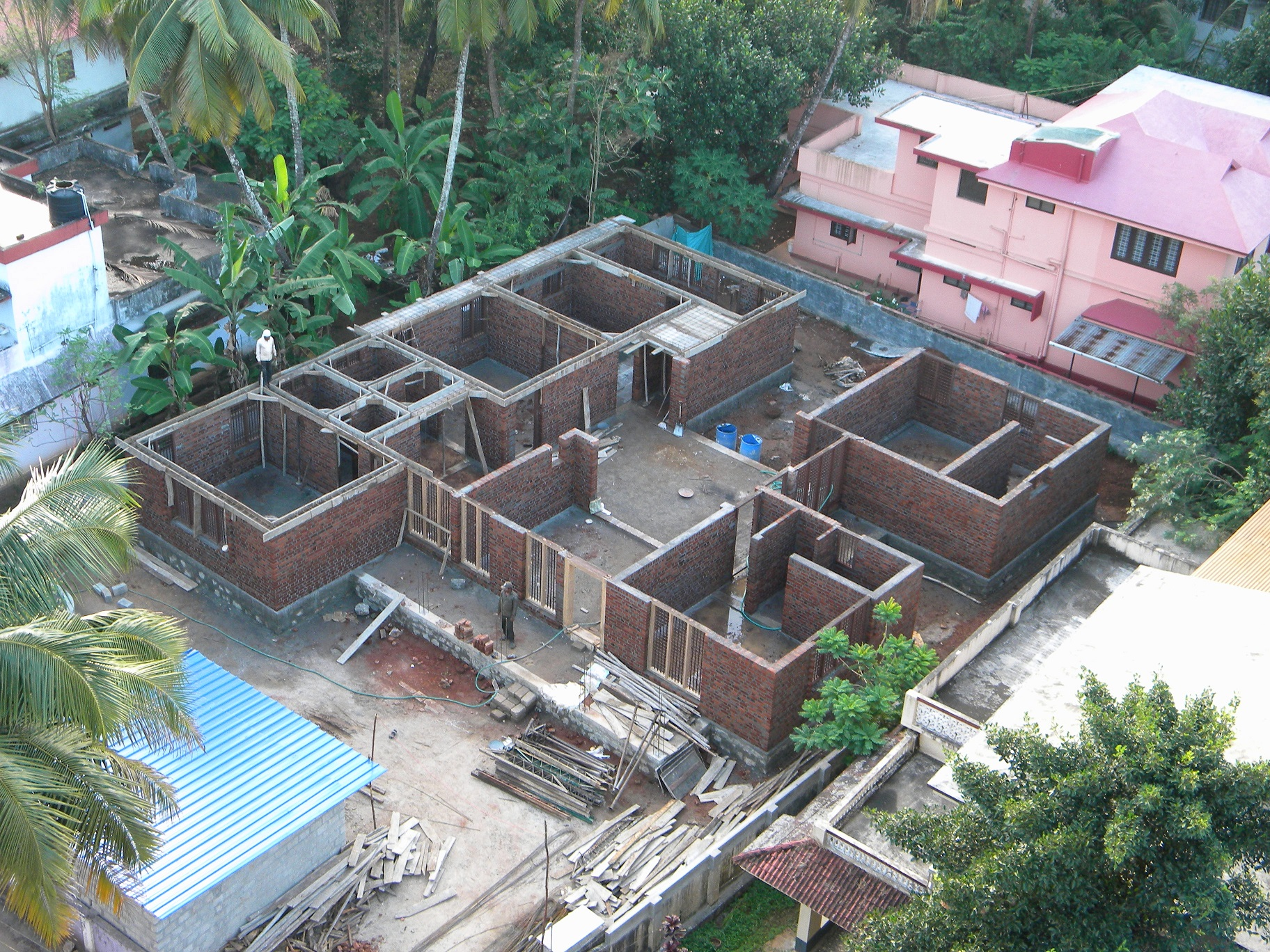 7 Stages Of House Construction An Arial View