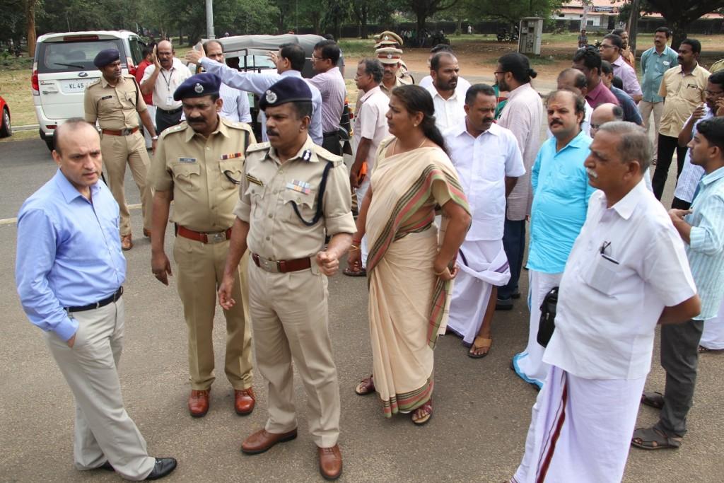 Thekkinkad Maithan Visiting SPG Before The Visit of Narendra Modi,Prime Minister Narendra Modis Visit At 14.12 (7)
