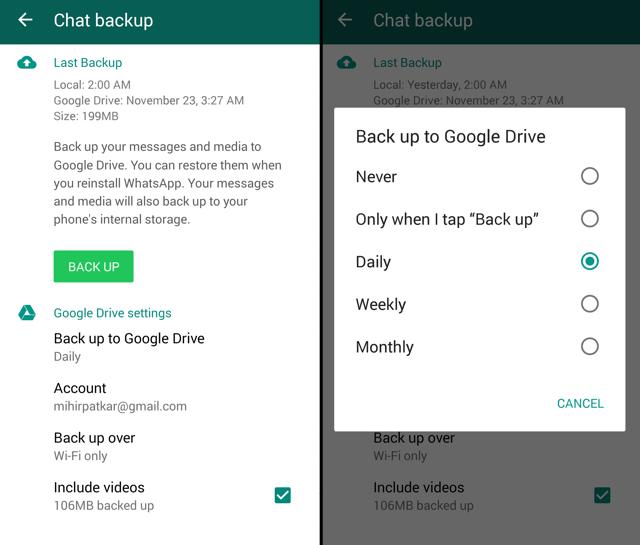 Whatsapp-chat-backup-google-drive - Latest Blogs on Technology