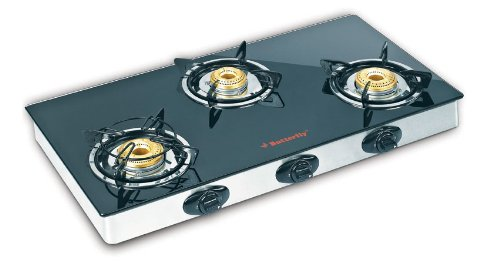 Glass Top Gas Stove Butterfly