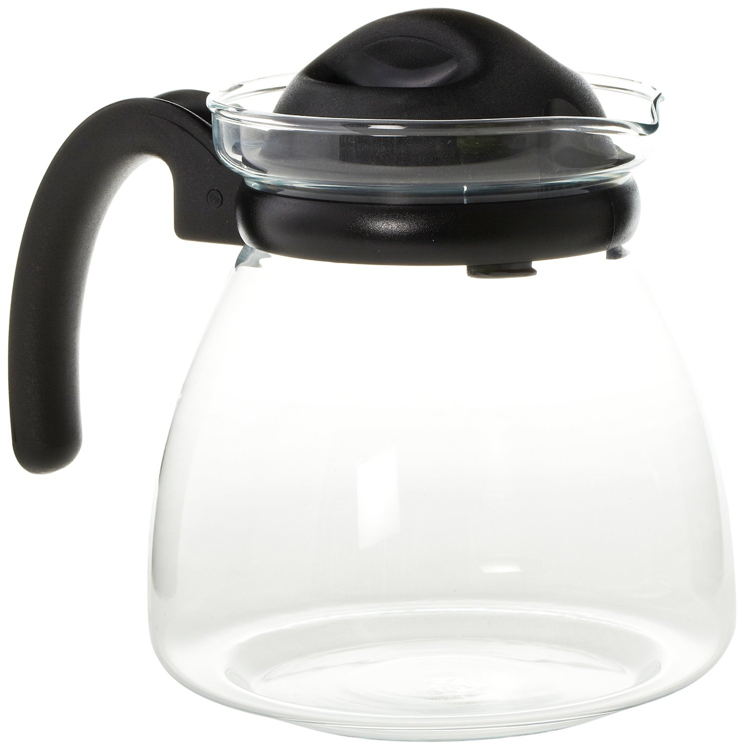 Borosil carafe pot with strainer in lid litres