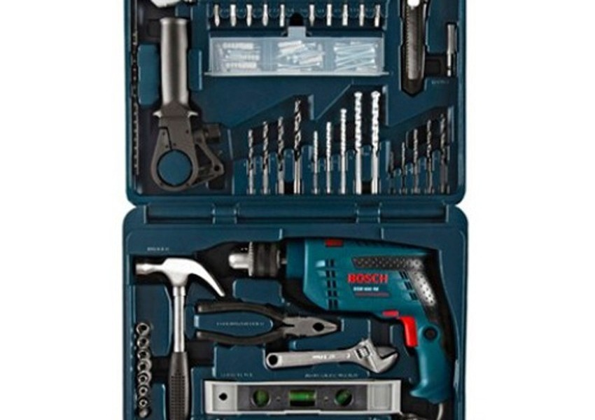 bosch gsb 13 re 13mm impact drill machine with 100 pcs. Black Bedroom Furniture Sets. Home Design Ideas