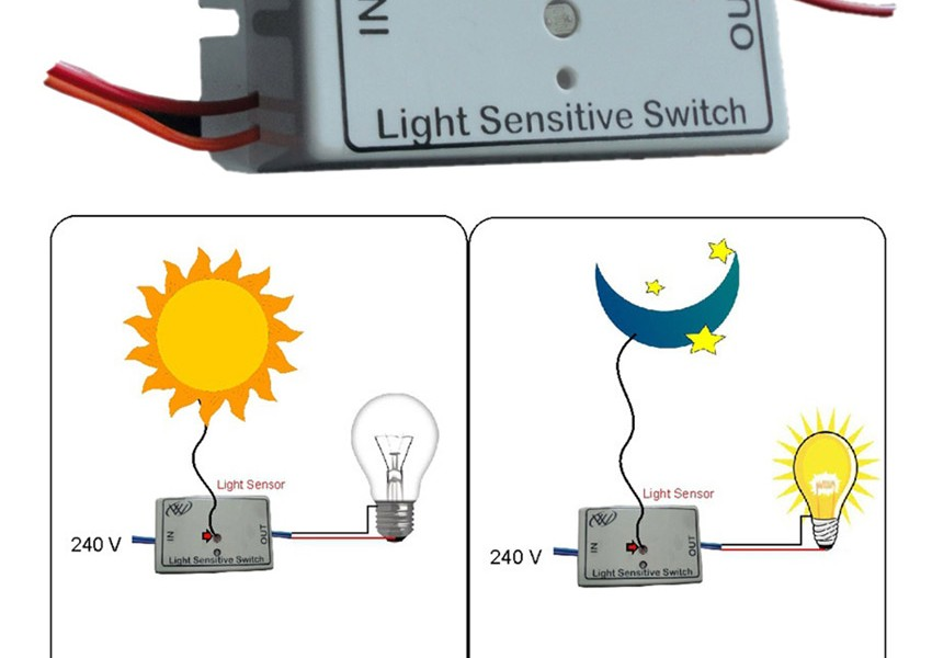 Light Sensitive Switch Automatic Light Switch For A