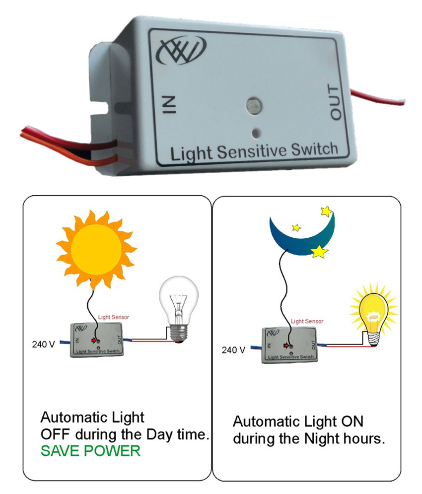 Light Sensitive Switch, Automatic Light Switch for a discounted price of  Rs.399