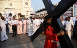 'Way of the Cross' Procession in Thrissur, Kerala