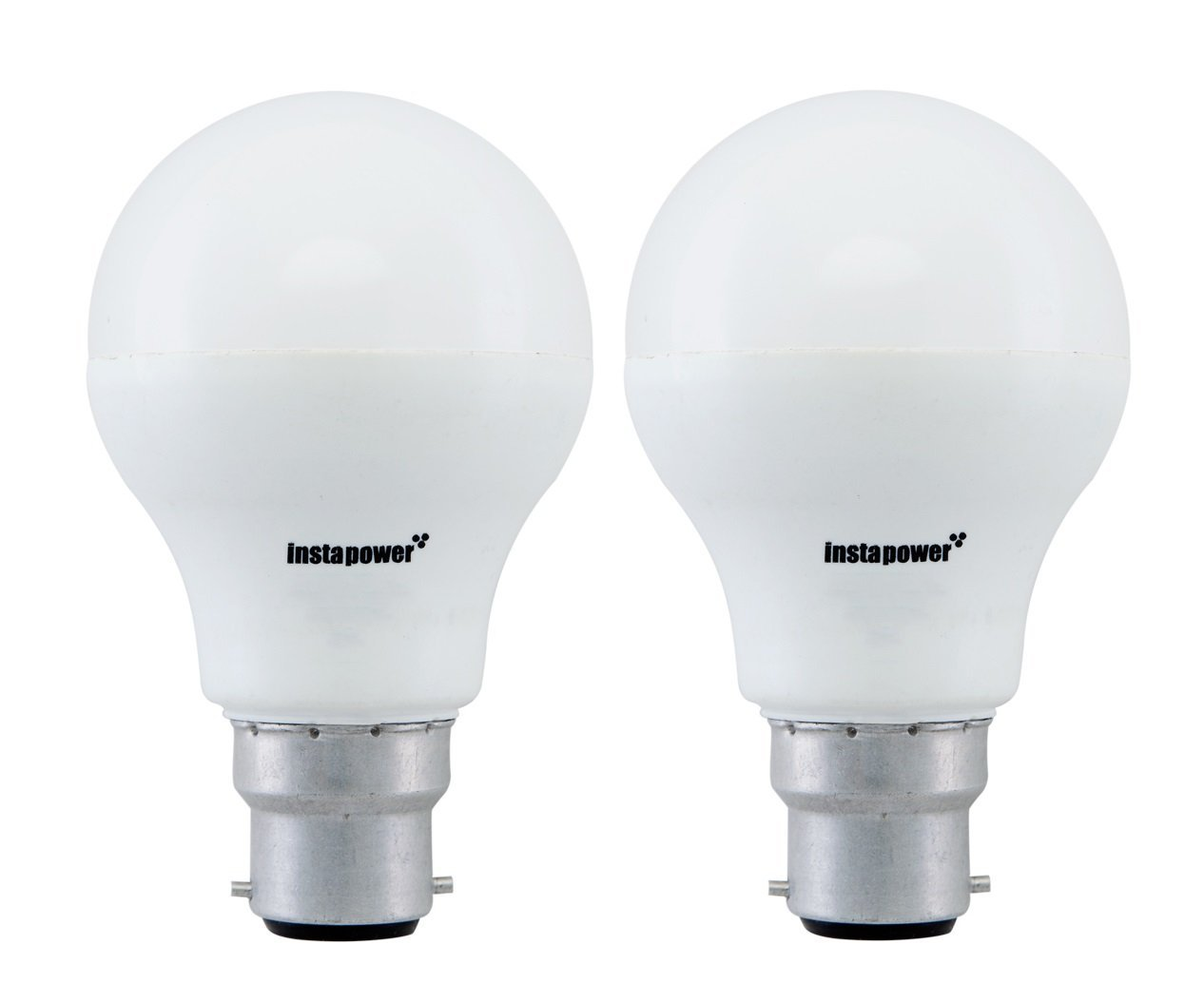 Instapower base b22 9 watt led bulb pack of 2 only for Light bulb wattage