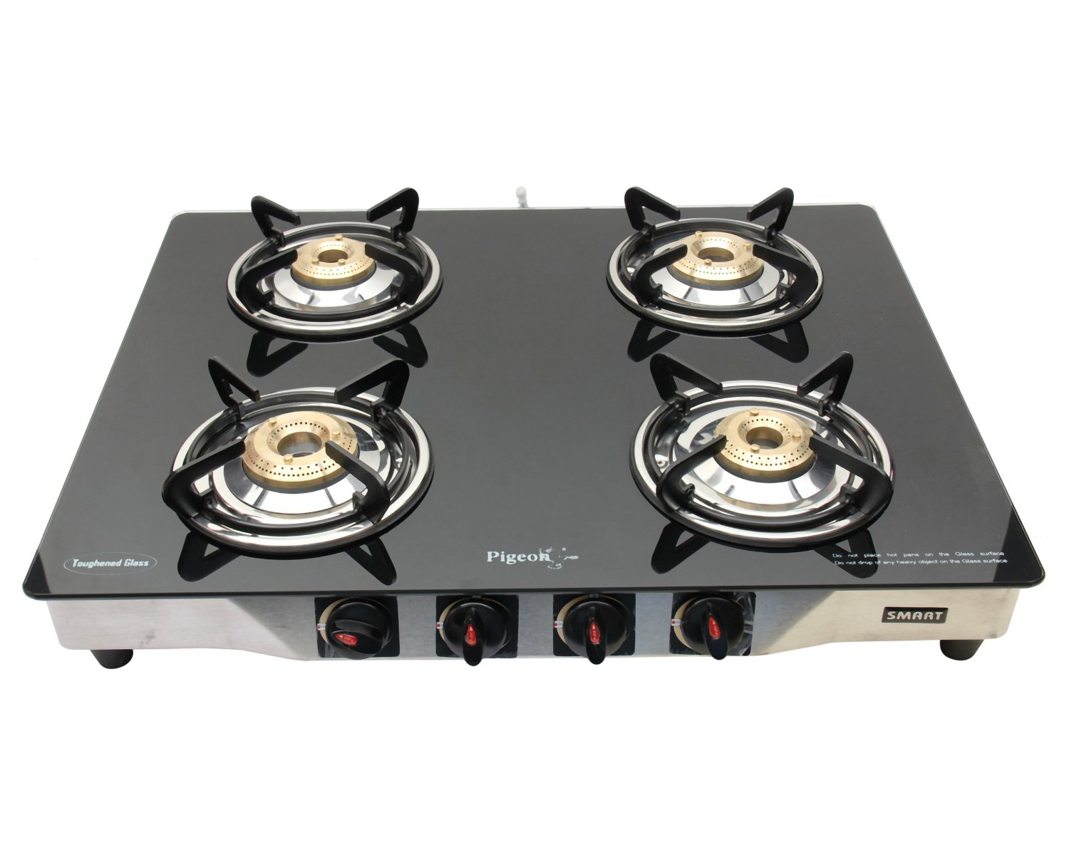 Smart Stainless Steel 4 Burner Gas Stove Worth Rs 6990 For Rs 3999