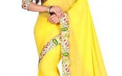Indian Beauty Yellow Georgette Sari Buy Only For Rs.259.