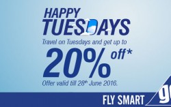 Travel On Tuesdays and get up to 20% Off.