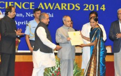 President of India presents National Geoscience Awards 2014