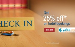 Get 25% Off on Hotel Bookings on Yatra for ICICI bank users
