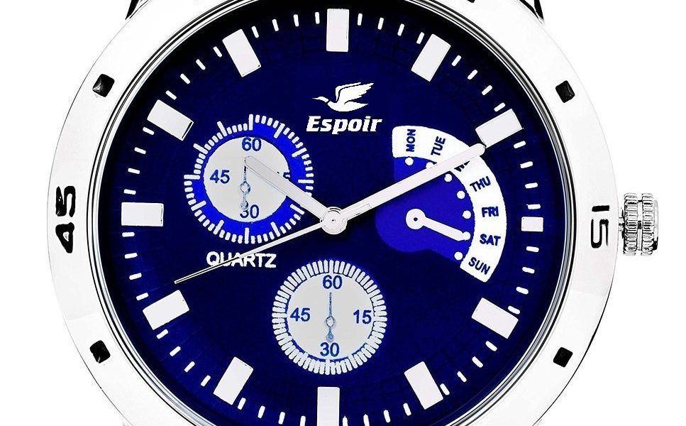 Buy Manufacturer Coupons >> Espoir Analogue Blue Dial Watch for Men for Rs.285