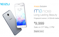Meizu launches Meizu m3 Note for Rs.9,999/- Exclusively available on Amazon India