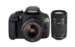 Canon EOS 1200D 18MP Digital SLR Camera (Black) with 18-55mm and 55-250mm IS II Lens at Rs 25784