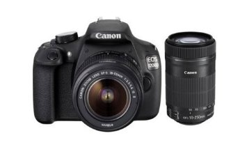 Canon EOS 1200D 18MP Digital SLR Camera (Black) with 18-55mm and 55-250mm IS II Lens
