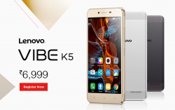 Lenovo Vibe K5 launched for Rs.6,999