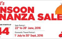 SpiceJet's Monsoon Bonanza Sale started today