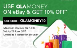 Ebay – OLA Money Offer: Get 10% Off