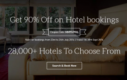 Get 90% Off on Hotel bookings from Makemytrip