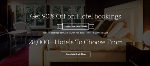 Get 90 Off on Hotel bookings