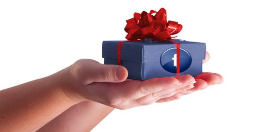 Seinding a gift via Facebook's ecommerce gift service