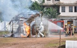 Mock drill by Firemen