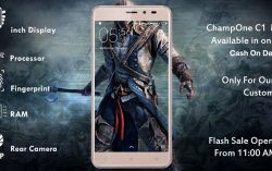 ChampOne S1: 5 Inch Display, 16GB ROM, 2GB RAM and 8MP Camera for just Rs.501