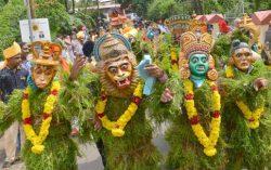 Amazing Kummattikali at Thrissur