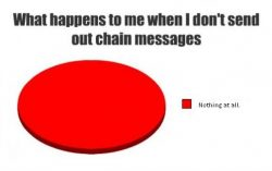 Hilarious message from a frustated victim of chain messages
