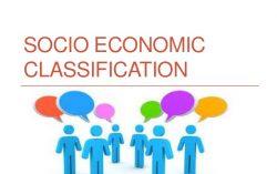 Socio-Economic classification simplified thus::  Classification of words :-