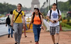 India seeing Increasing Foreign Tourists