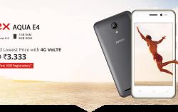 Cheapest 4G VoLTE Smartphone: Intex launched AQUA E4 – 4G VoLTE Smartphone for Rs.3,333
