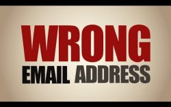 Wrong email address