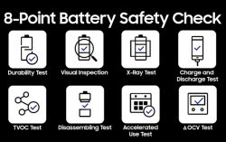 Samsung's New 8 eight-point battery safety check : Lesson learned from Note 7