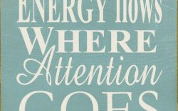 Energy Flows where Attention Goes. Everything in our Universe is Energy.