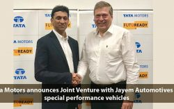 Tata Motors announces Joint Venture with Jayem Automotives for special performance vehicles