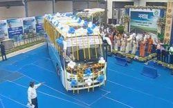 Kolkata- Khulna-Dhaka bus service flagged off from Kolkata yesterday