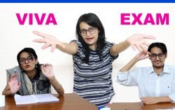 Students go to an Engineering Viva Exam
