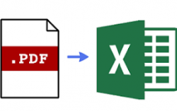 How to convert PDF files to Excel?